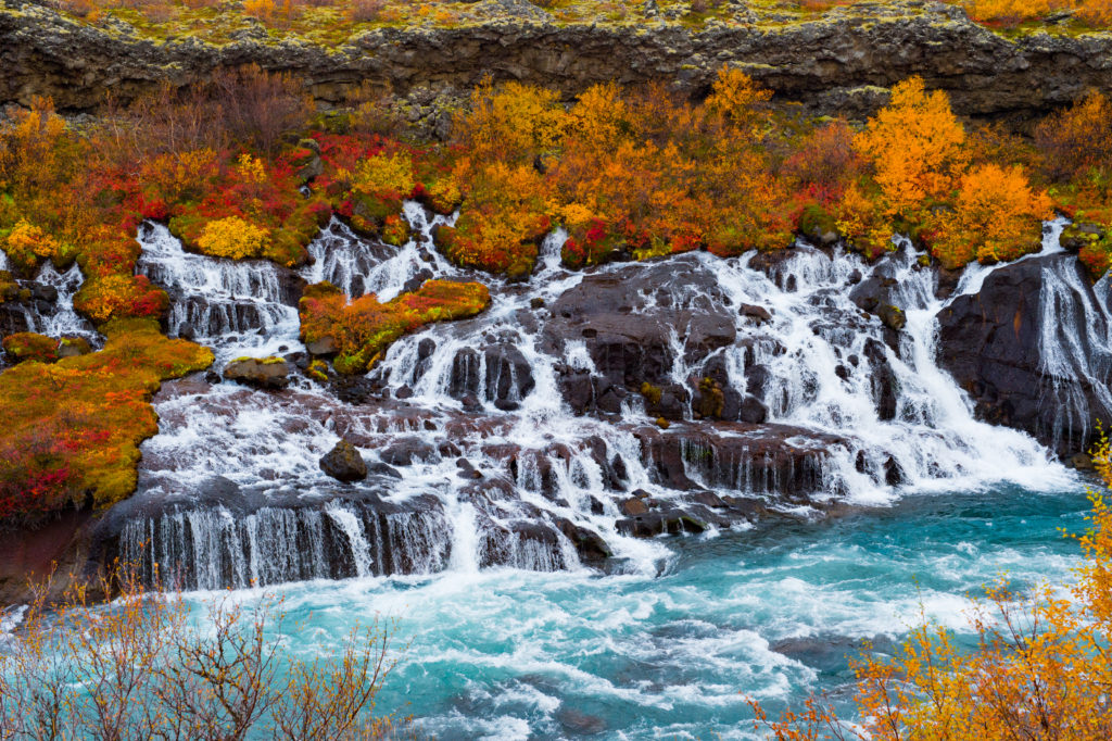 Hraunfossar IJsland